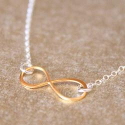 FOREVER--Bali Gold Vermeil Eternity Symbol Necklace